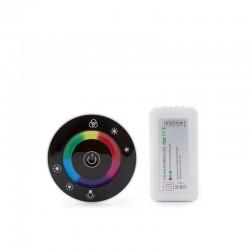 Controlador Rf Tira RGB Mando a Distancia Circular 12-24VDC ► 216/432W