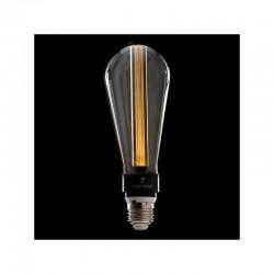 Bombilla de LEDs Art Deco 3D St64 5W E27 Vidrio Gris