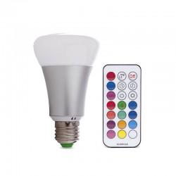 Bombilla LED RGB + Ww E27 10W Mando a Distancia