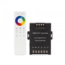 Controlador 2.4G Táctil RGB+Cct 5 Canales Mando a Distancia
