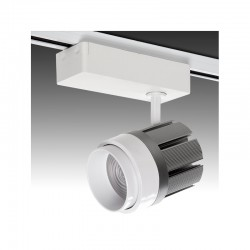 Foco Carril LED Monofásico Cct/Intensidad Variable Mando a Distancia 30W 2700Lm 30.000H
