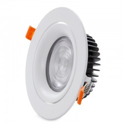 Foco Downlight  Circular LED COB 20W 2000Lm 30.000H