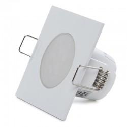 Foco Downlight  LED IP54 Baños Y Cocinas Cuadrado 5W 350Lm 25.000H