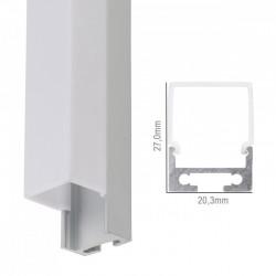 Perfíl Aluminio Curvado para Tira LED Techo/Colgante Difusor Opal 2M
