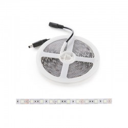 Tira LED 300 X SMD5050 12VDC 60W IP25 Azúl Hielo