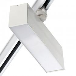 Foco Carril LED Lineal Trifásico 12W Blanco CCT Ajustable