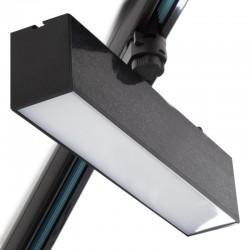 Foco Carril LED Lineal Monofásico 12W Negro CCT Ajustable