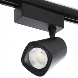Foco Carril LED Monofásico Amancio 30W 2700Lm 30.000H Negro