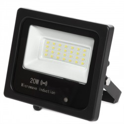 Foco Proyector LED IP65 Detector Movimiento Integrado 20W 30.000H