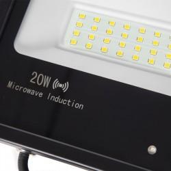 Foco Proyector LED IP65 Detector Movimiento Integrado 20W 30.000H