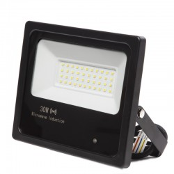 Foco Proyector LED IP65 Detector Movimiento Integrado 30W 30.000H