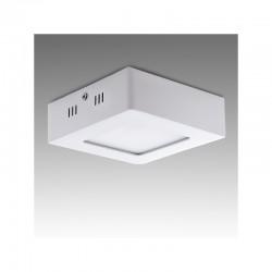 Plafón LED Cuadrado Superficie 120Mm 6W 470Lm 30.000H