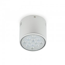 Foco Downlight  LED de Superficie Aluminio 12W 1200Lm 30.000H