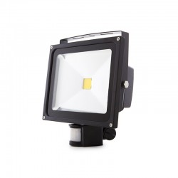 Foco Proyector LED IP65 Detector Movimiento 30W 2700Lm 30.000H