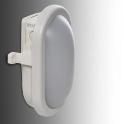 Aplique LED IP54 10W 700Lm 40000H Oval Blanco