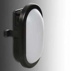 Aplique LED IP54 10W 700Lm 40000H Oval Negro