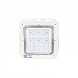 Luminaria LED Especial Gasolineras Lumileds/Meanwell IP65 Ik08 100W 9500Lm 100.000H