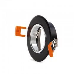 Aro Foco Downlight  Circular GU10 Ø84Mm - Negro