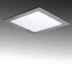 Placa de LEDs Cuadrada 12W plata