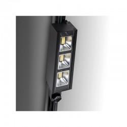 Foco Carril LED Trifásico Lineal 30W 3900Lm Epistar/Lumileds 50.000H