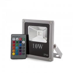 Foco Proyector LED IP65 Ecoline 10W RGB Mando a Distancia