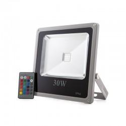 Foco Proyector LED IP65 Ecoline 30W RGB Mando a Distancia