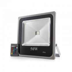Foco Proyector LED IP65 Ecoline 50W RGB Mando a Distancia