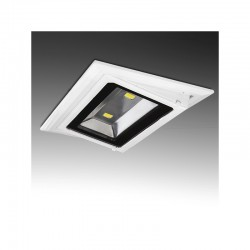 Foco Downlight  LED Rectangular Basculante COB 20W 1800Lm 30.000H