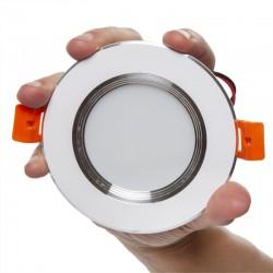 Foco Downlight  LED Ø100Mm Aro Plateado 5W 370-400Lm 30.000H