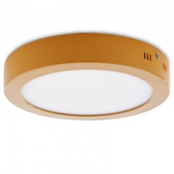 Plafón LED Circular Superficie Ø224Mm 18W 1450Lm 30.000H Amarillo