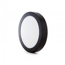 Plafón LED Circular Superficie Ø215Mm 18W 1450Lm 30.000H Negro