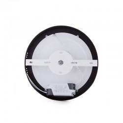 Plafón LED Circular Superficie Ø215Mm 18W 1450Lm 30.000H Negro