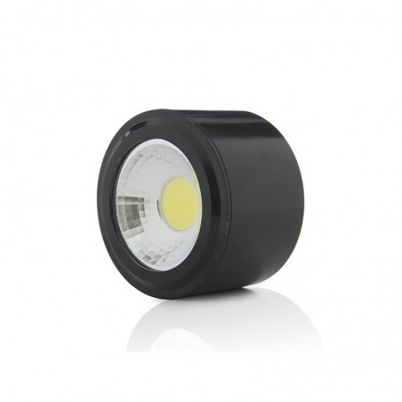 Foco Downlight  LED de Superficie COB Circular Negro Ø68Mm 5W 450Lm 30.000H