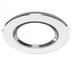Foco Downlight  LED Ø98Mm Aro Plateado 3W 240Lm 30.000H
