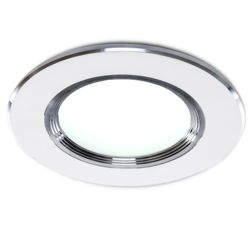 Foco Downlight  LED Ø98Mm Aro Plateado 3W 240Lm 30.000H