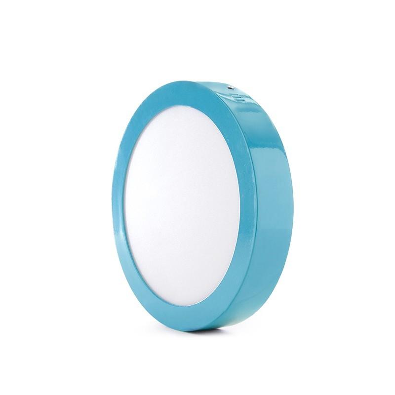 Plafón LED Circular Superficie Ø220Mm 18W 1450Lm 30.000H Azul