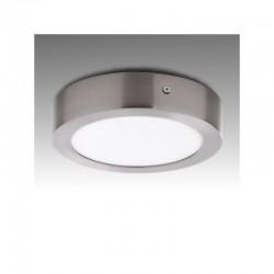 Plafón LED Circular Ø171Mm 12W 860Lm 50.000H Niquel Satinado