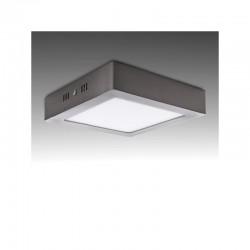 Plafón LED Cuadrado 180Mm 12W 860Lm 50.000H Niquel Satinado
