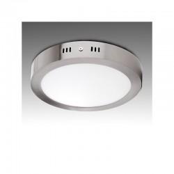 Plafón LED Circular Ø225Mm 18W 1300Lm 50.000H Niquel Satinado