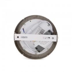 Plafón LED Circular Ø120Mm 6W 430Lm 50.000H Niquel Satinado
