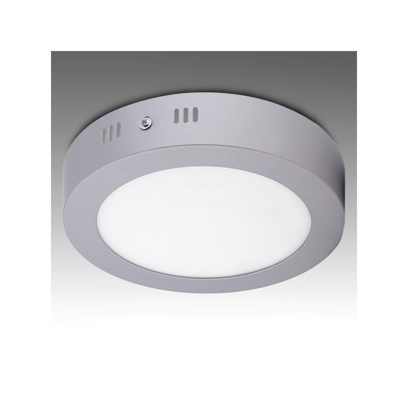 Plafón LED Circular Cromado Ø225Mm 18W 1440Lm 30.000H