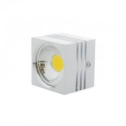 Foco Downlight  LED de Superficie COB Cuadrado Blanco 57X57Mm 3W 270Lm 30.000H BF-MZ3002-3W-W-R-WW