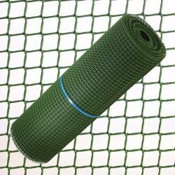 Tela Cuadrada Plastico 2,0 cm. x 1 Metro Verde  Rollo 25...