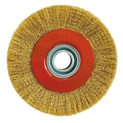 Cepillo Acero Latonado Circular Ø 125x30 mm.