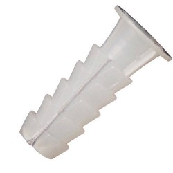 Taco Wolfpack Plástico Blanco    9 mm. (25 unidades)