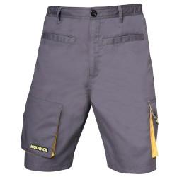 Pantalon de Trabajo Gris/Amarillo Corto Talla 50/52 XL