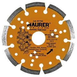 Disco Diamante Maurer Segmentado Laser Acero, PVC,...