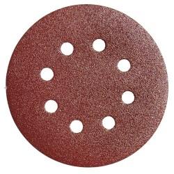 Lija recambio velcro disco Ø 125 mm. con agujeros grano...