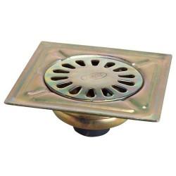 Sumidero Acero Bicromatado 300x300 mm. Toma de 90 mm.