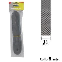 Cinta Persiana Wolfpack Gris 14 mm. Rollo 5 metros